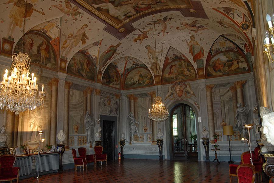 La Villa di Corliano - Toscana: Salone di rappresentanza
