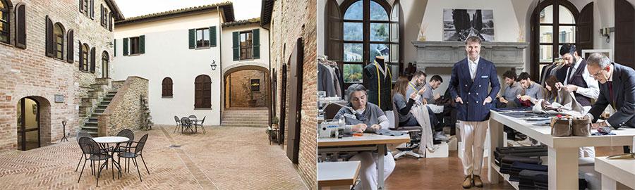 Imprenditori Italiani: Il borgo di Solomeo - Brunello Cucinelli all'interno della Scuola di Arti e Pensieri