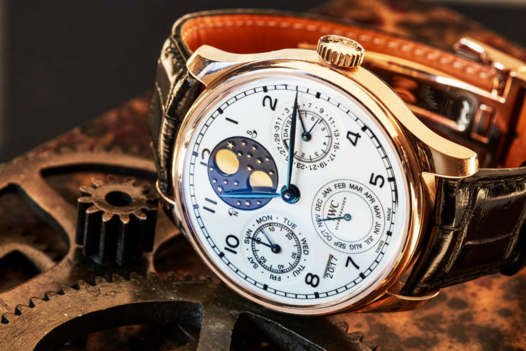 "IWC Portugieser Perpetual Calendar Edition ""150 Years"". Copyright: The Ducker Magazine Photo Credit: Federica Santeusanio"