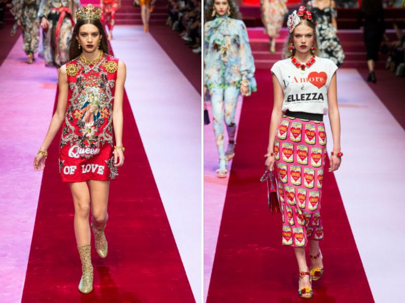 Lettering: Dolce & Gabbana SS 2018