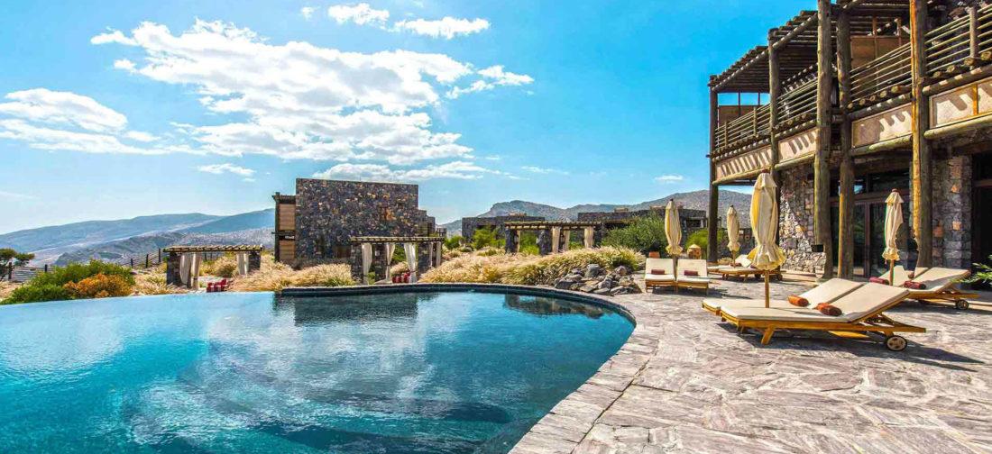 Oman - il luxury resort Alila Jabal Akhdar: piscina esterna