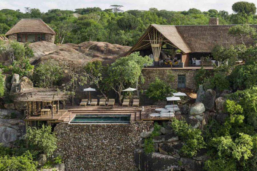 Tanzania - Mwiba Lodge Hotel: veduta di tutta l'area dell'hotel