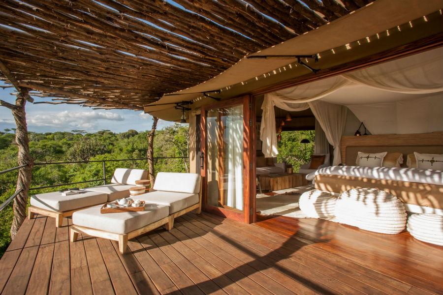 Tanzania - Mwiba Lodge Hotel: angoli della suite