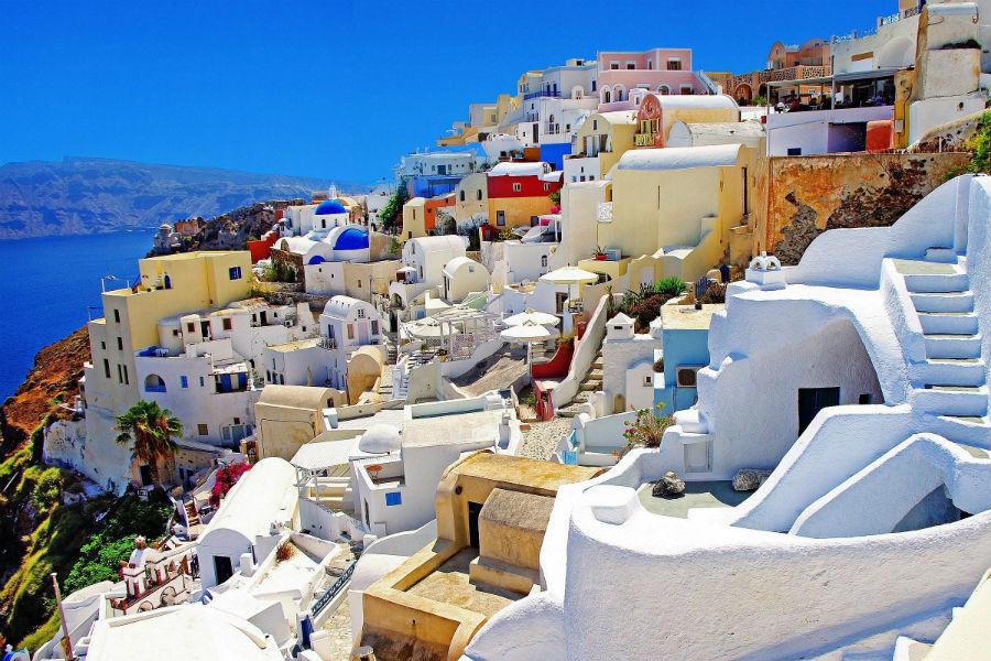 Bill & Coo Hotel - Mykonos: scorcio su Santorini