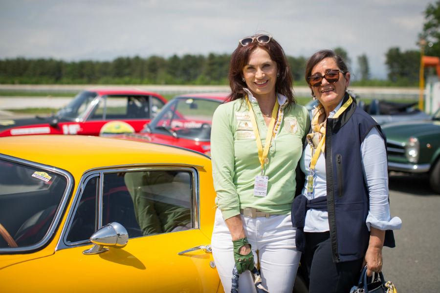 Trofeo Tollegno 1900: Cornelia Hagman e Rita Guagno con la Ferrari 275 GTB scuderia Kessel classic