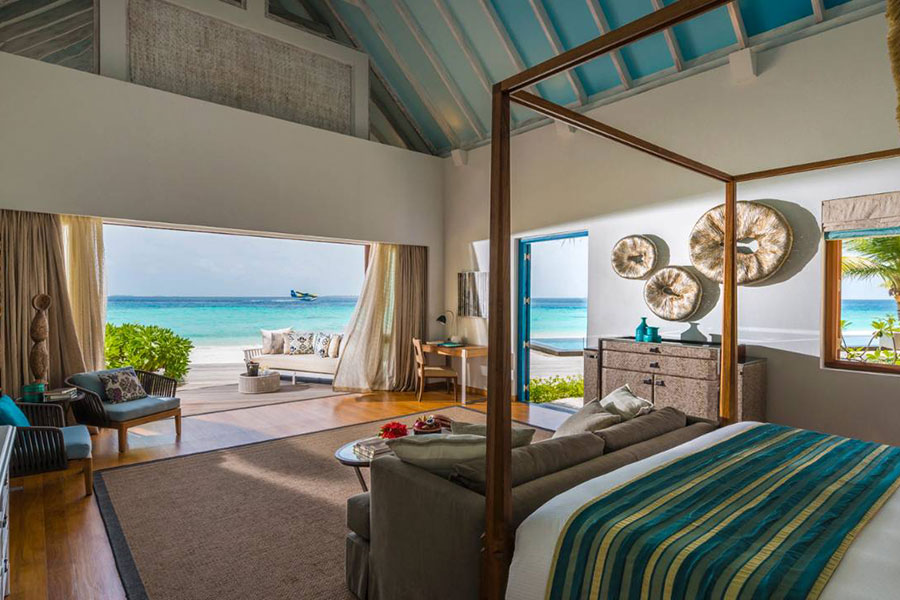Landaa Giraavaru Four Seasons Resorts: camera da letto