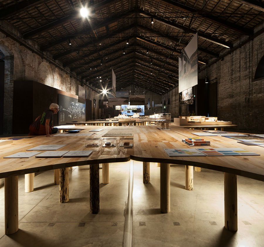 Spazio interno della Biennale Architettura 2018 fotografato da Francesco Galli – Courtesy La Biennale di Venezia 16. Mostra Internazionale di Architettura - La Biennale di Venezia, FREESPACE
