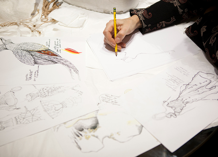 Bozzetti di progetti di Caterina Crepax