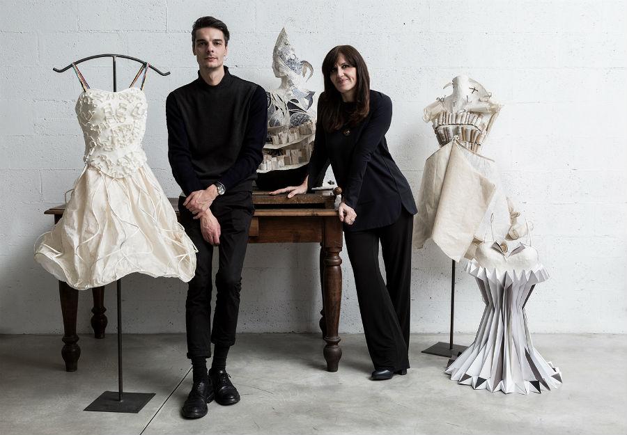 il designer serbo Uros Mihich e Caterina Crepax
