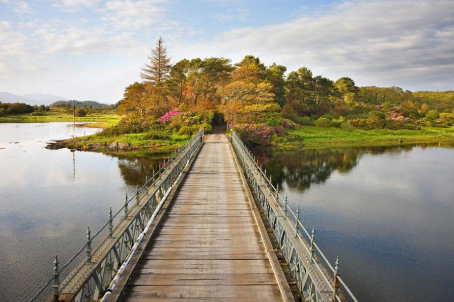 Isle of Eriska Hotel, Spa & Island - Scozia: ponte di accesso all'isola privata