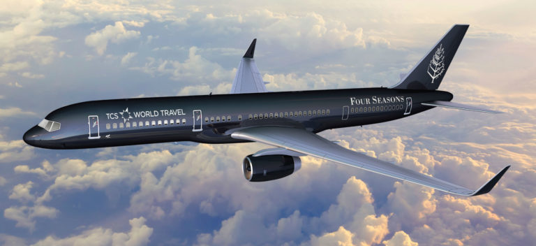 Four Seasons Private Jet - in volo