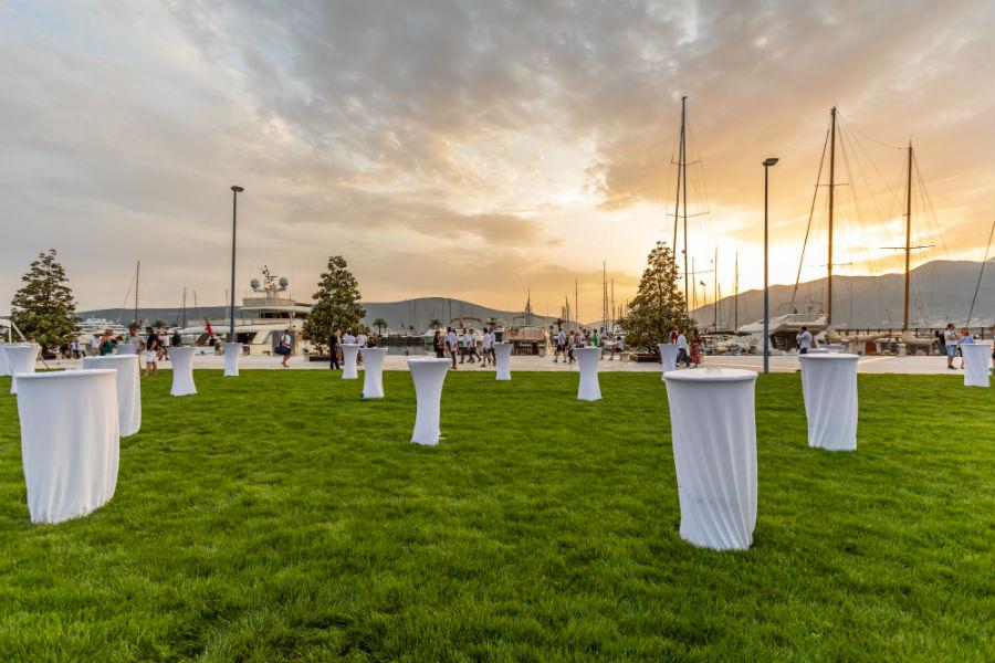Porto Montenegro - spazio allestito per evento