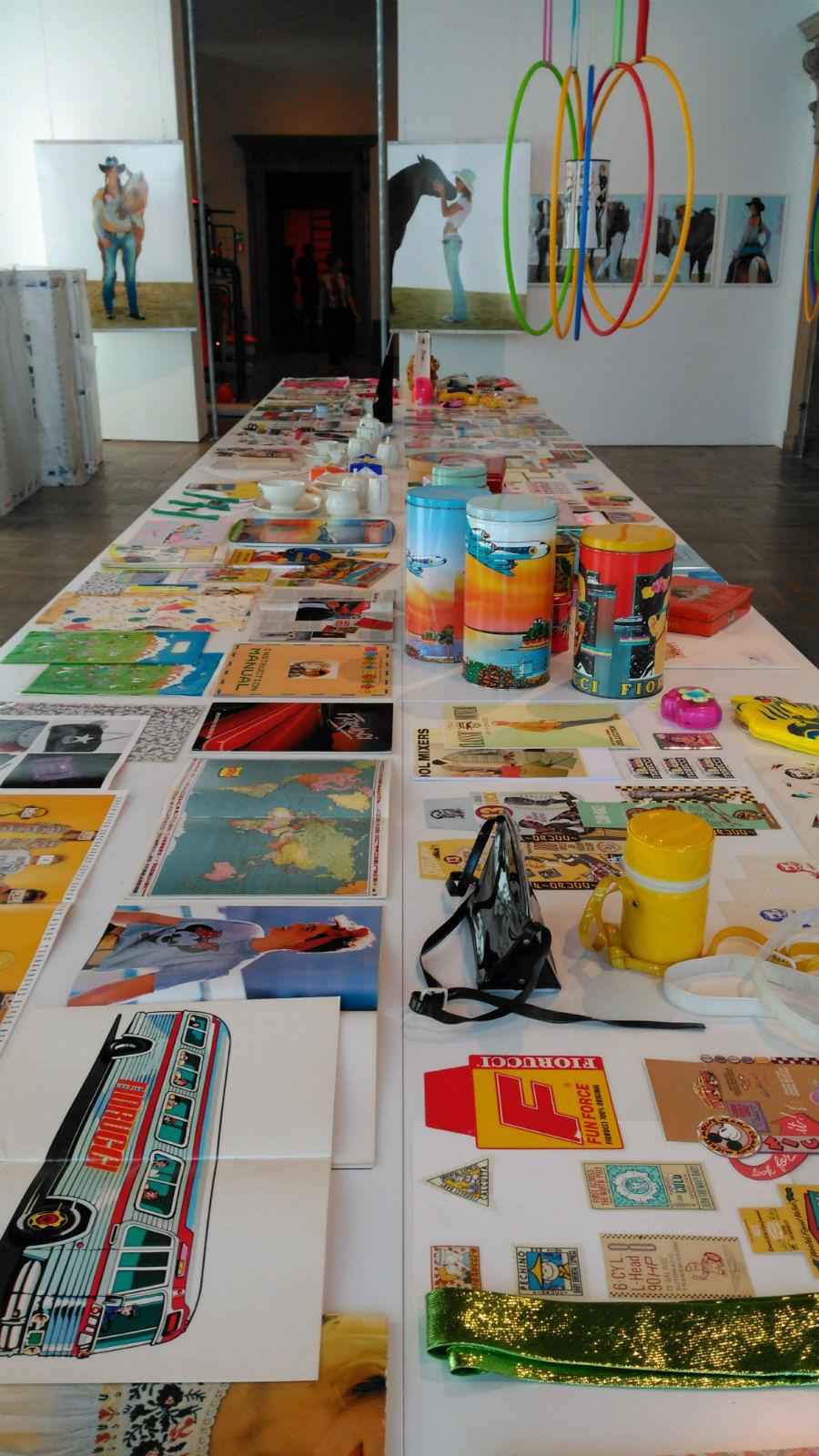 Epoca Fiorucci: allestimento della mostra di arte e moda di Elio Fiorucci a Cà Pesaro