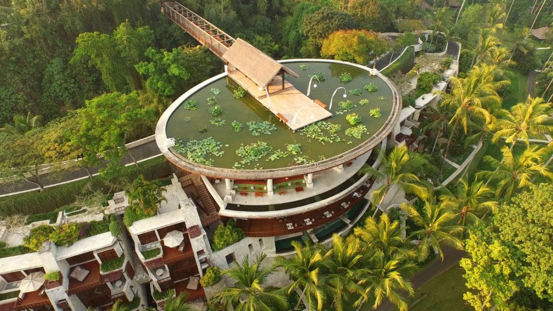 Veduta aerea del Four Seasons Sayan Resort di Bali