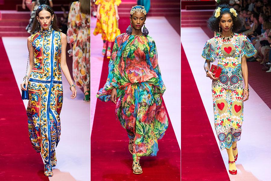 Tendenze moda estate 2018 - Dolce&Gabbana: 3 modelli della collezione Primavera Estate 2018