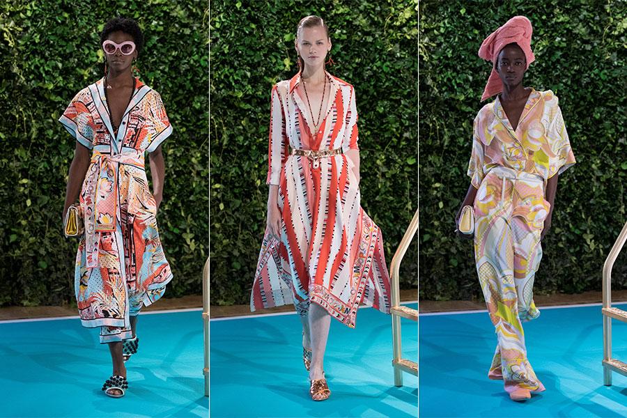 Tendenze moda estate 2018 - Emilio Pucci: 3 modelli della collezione SS 2018