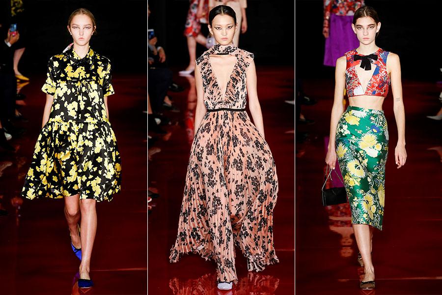Tendenze moda estate 2018 - Rochas: 3 modelli della collezione Primavera Estate 2018