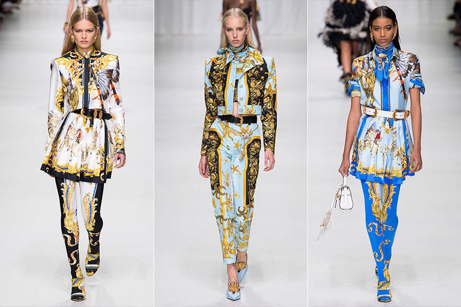 Tendenze moda estate 2018 - Versace: 3 modelli della collezione Primavera Estate 2018