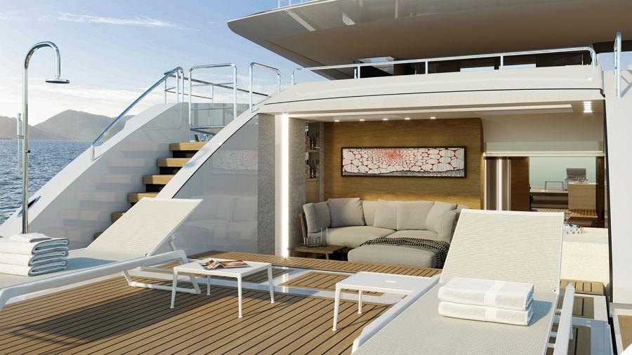 Baglietto 48m T-Line: design esterni