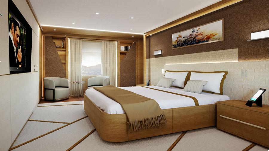 Baglietto 48m T-Line: design interni