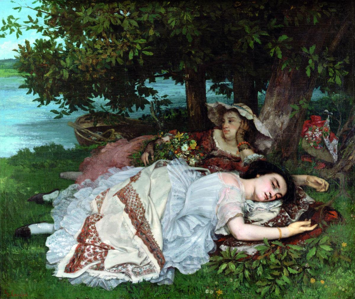Gustave Courbet - Fanciulle sulle rive della Senna (estate), 1857 Olio su tela, cm 174 x 206 Parigi, Petit Palais, Musée des Beaux-Arts de la Ville de Paris