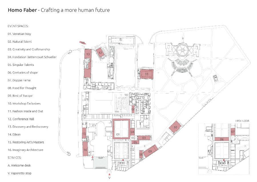 Fondazione Cini - Venezia - Homo Faber: mappa della mostra