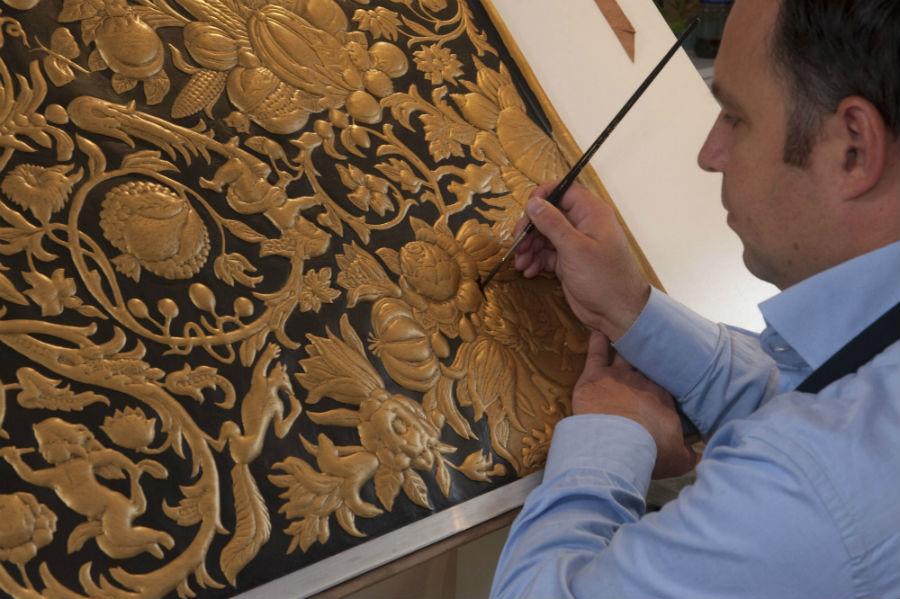 Fondazione Cini - Venezia - Homo Faber: Sebastiaan Van Soest - pittura e decorazione su pelle