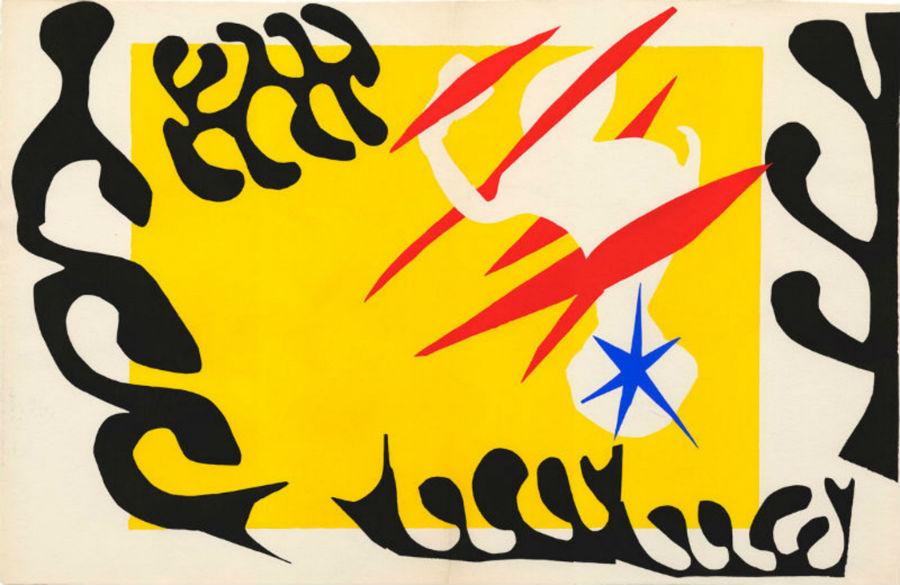 Henri Matisse, Jazz - Cauchemar Clean, 1947. Stampa su stencil incollato su carta, 425 x 328 mm