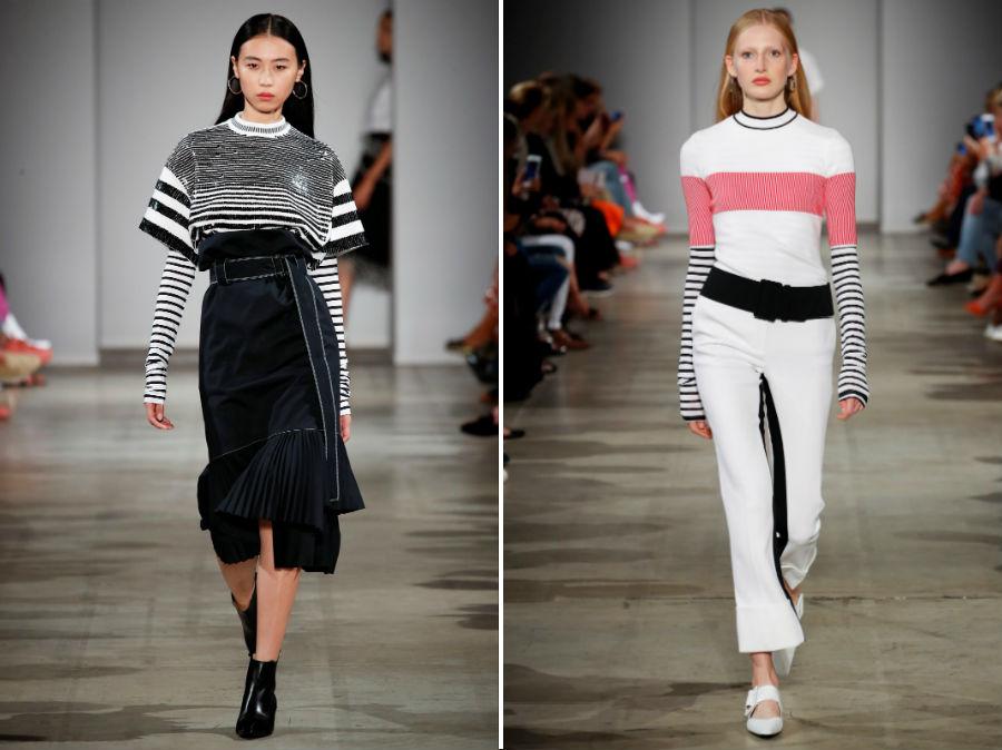 Stile marinaro: 2 modelli della collezione SS 2018 Aquilano e Roberto Rimondi
