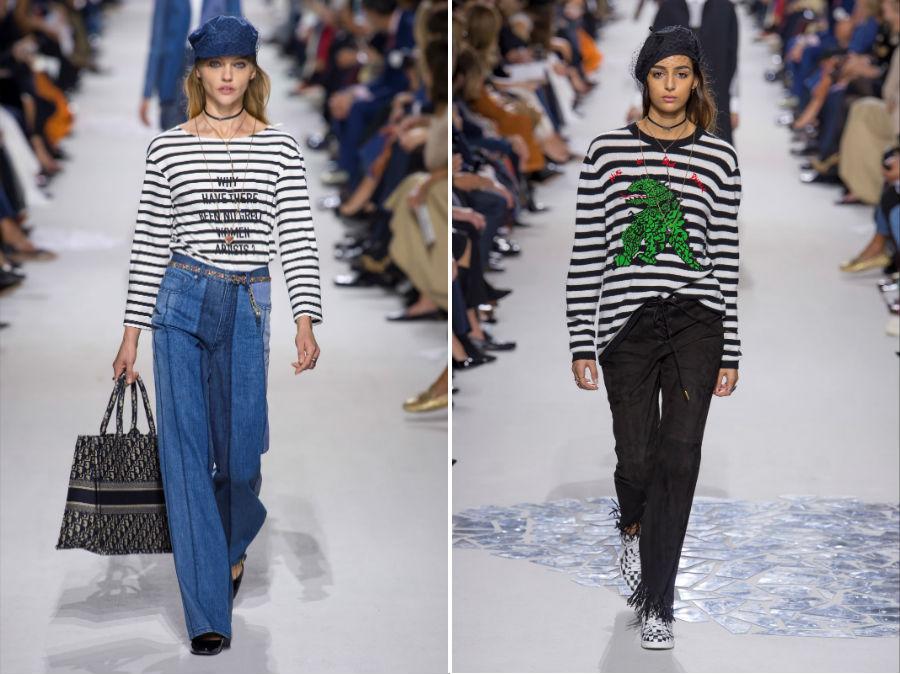 Stile marinaro: 2 modelli della collezione SS 2018 Christian Dior