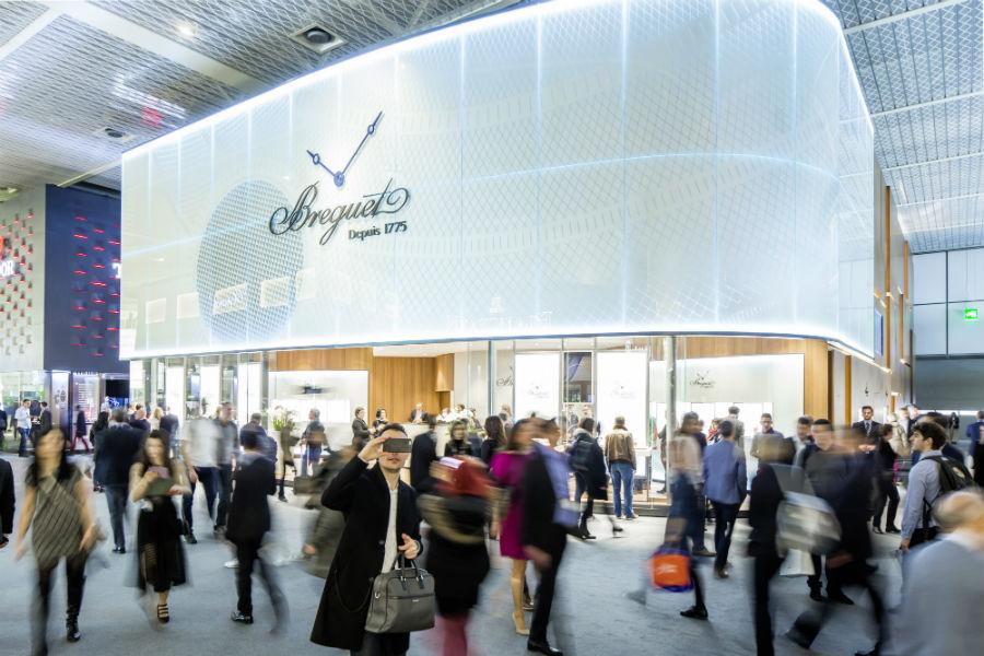 Lo stand Breguet, marchio più esclusivo del gruppo Swatch Group.