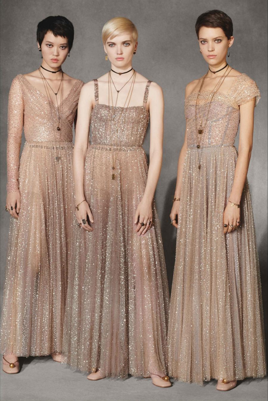 tre abiti in tulle rosa di Christian Dior Pre Fall 201 - credits Dior