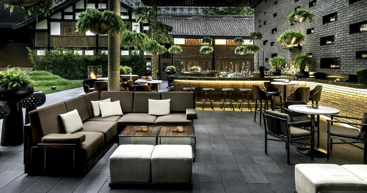 The Temple House a Chengdu: lounge bar