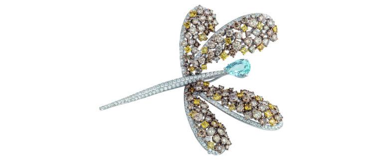 Collezione Animalia, Damiani Gioielli: gioiello a forma di libellula