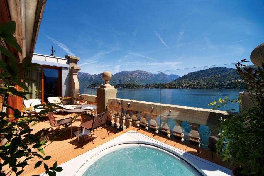 Il Grand Hotel Tremezzo sul Lago di Como: piscina sul terrazzo
