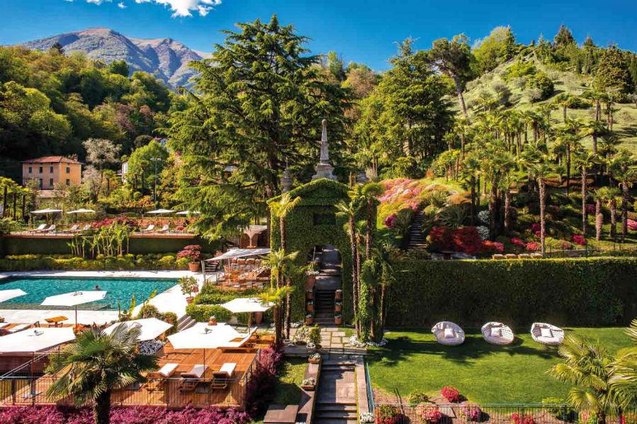 Il Grand Hotel Tremezzo sul Lago di Como: parco