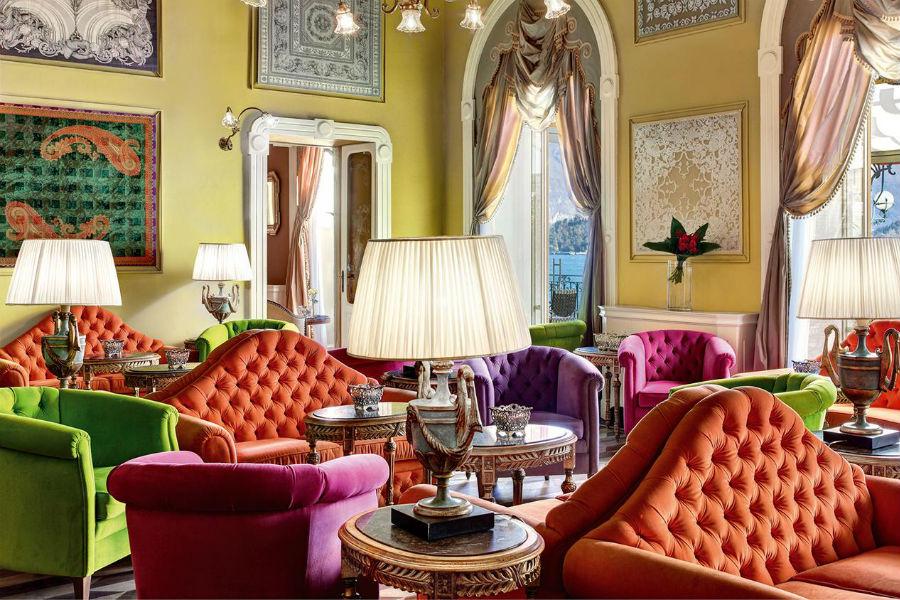 Il Grand Hotel Tremezzo sul Lago di Como: salottino interno all'hotel