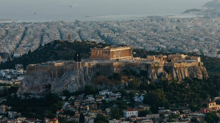 Hotel Grande Bretagne - Atene: veduta aerea sull'Acropoli