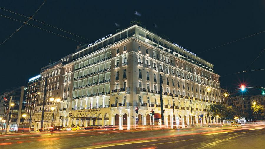 Hotel Grande Bretagne - Atene: la struttura vista dall'esterno