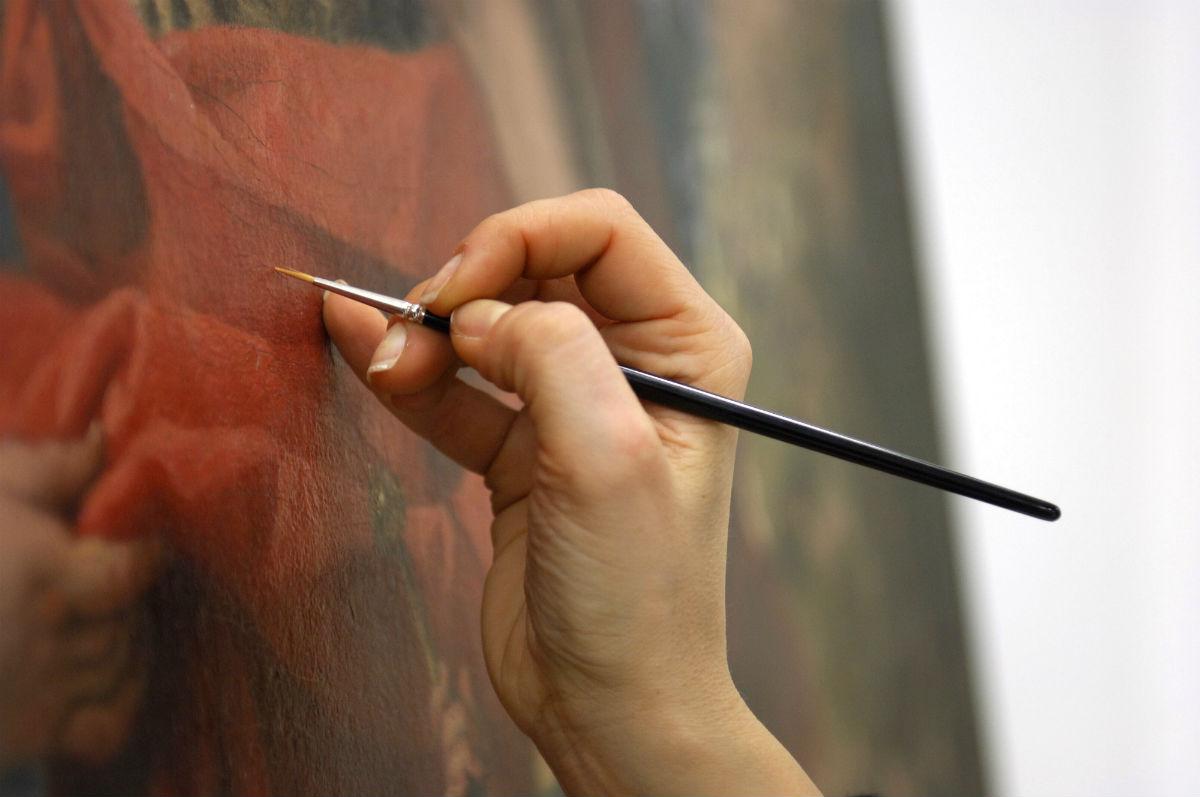 Restauro dipinti e opere polimateriche - ph credit Andrea Chisesi