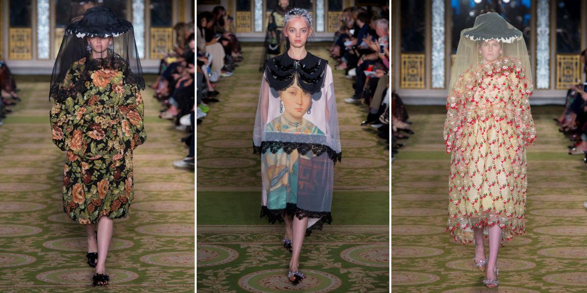 Settimana della moda di Londra 2018: tre modelli della collezione donna di Simone Rocha SS19 - Foto courtesy Simone Rocha