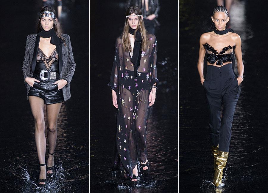 Saint Laurent: tre modelli femminili della collezione SS 2019