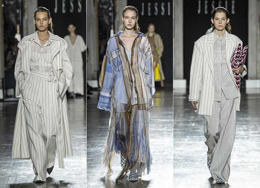 SS 2019 - tre modelli della collezione donna disegnata da Federico Piaggi per Jessie