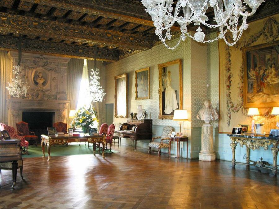 Castello di Brissac: salone dorato