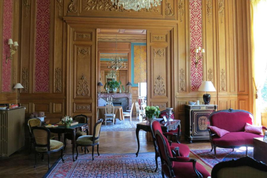 Salottino dell'Hotel Castello di Verrières