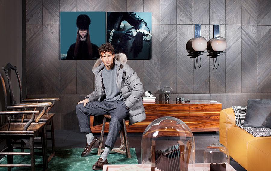 moda uomo invernale stagione 2018-2019: nell'immagine Riccardo Pozzoli - Ph Francesco Allegretti