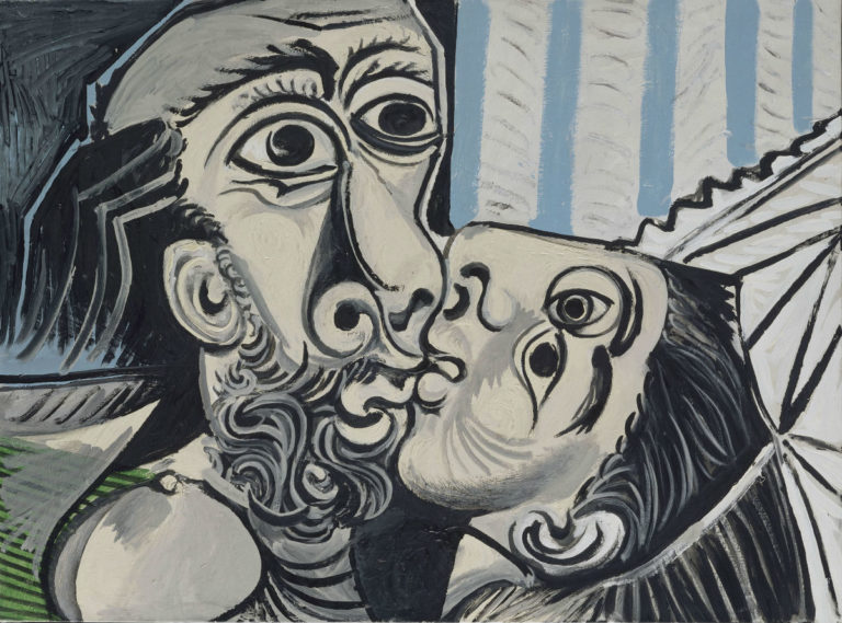 Pablo Picasso Le Baiser [Il bacio], 26 ottobre 1969 olio su tela, 97x130 cm Paris, Musée National Picasso Credito fotografico: © RMN-Grand Palais (Musée national Picasso-Paris) /Jean-Gilles Berizzi/ dist. Alinari Copyright: © Succession Picasso, by SIAE 2018