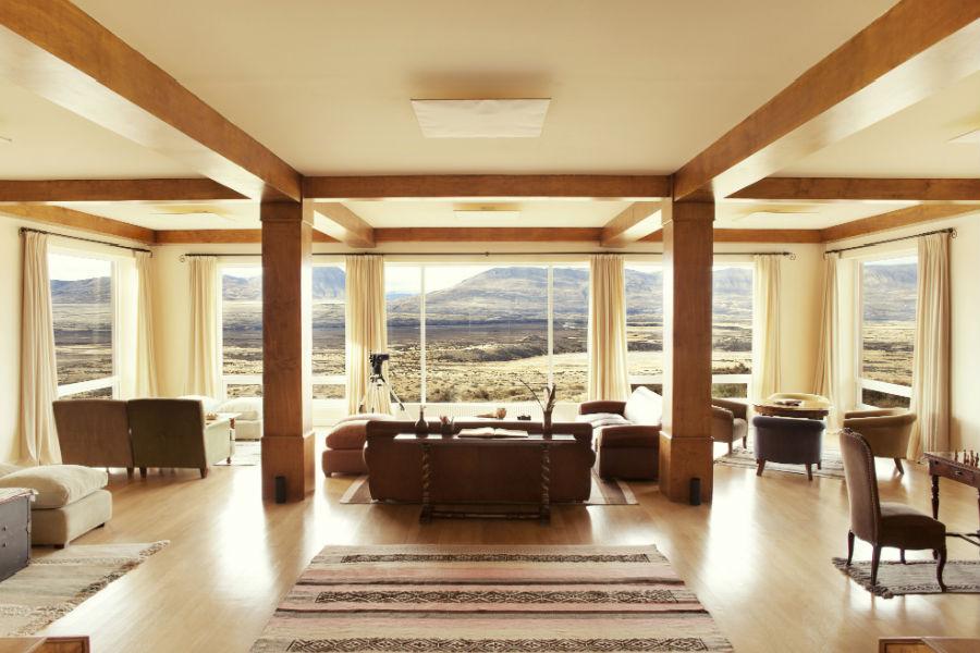 Relais & Chateaux - il resort Eolo per scoprire la Patagonia: nell'immagine un salottino relax