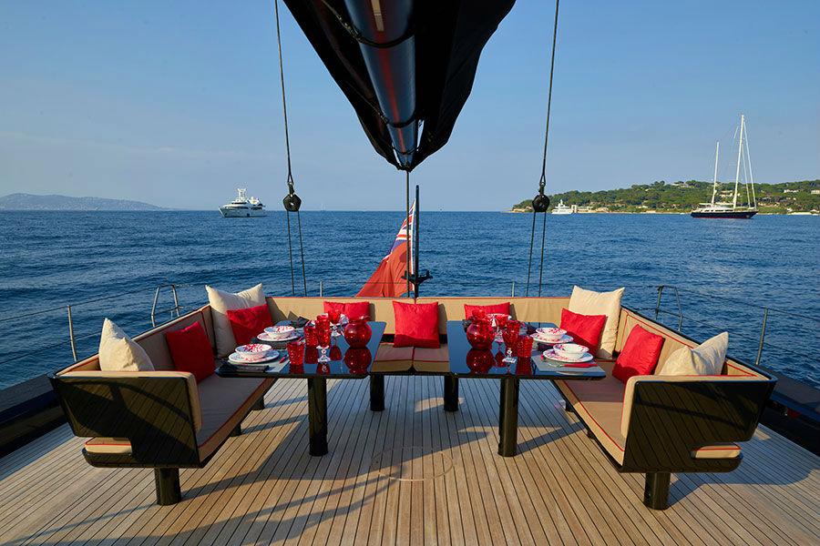 Dettagli esterni della barca a vela Wally 100 Tango Ph: Toni Meneguzzo