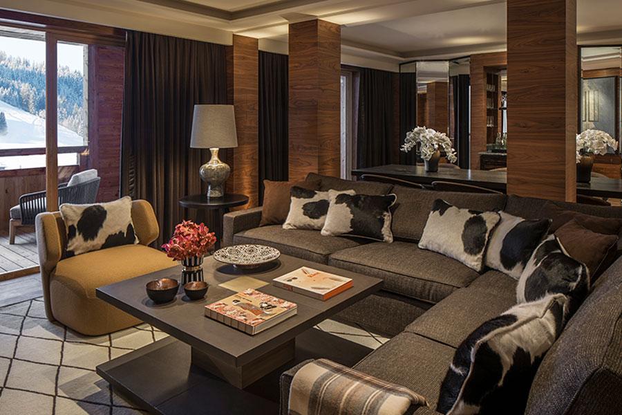 Suite del Four Seasons Hotel Megève – Credit Photo Richard Waite
